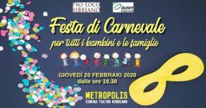 Carnevale,festa più colorata e divertente dell'anno 2020