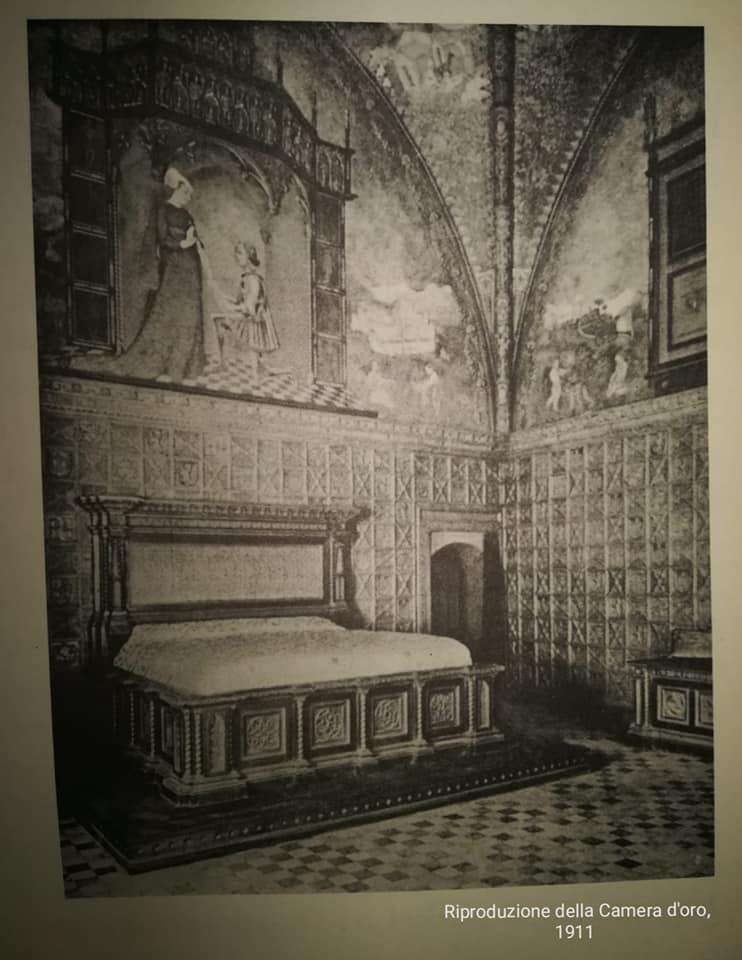 Riproduzione della camera d'oro del castello di Torchiara