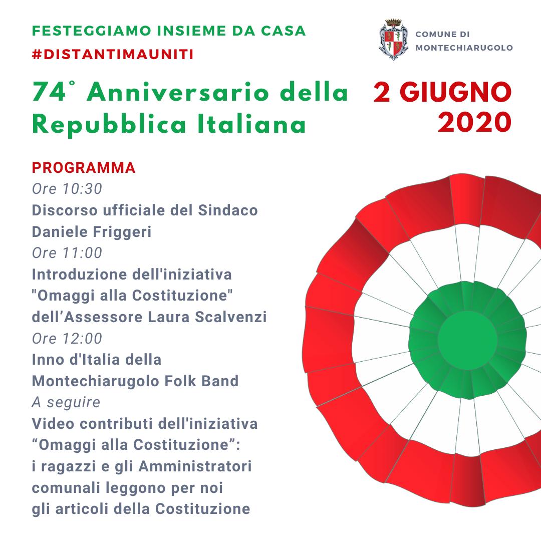 Festa della Repubblica, celebrazioni on line 2020