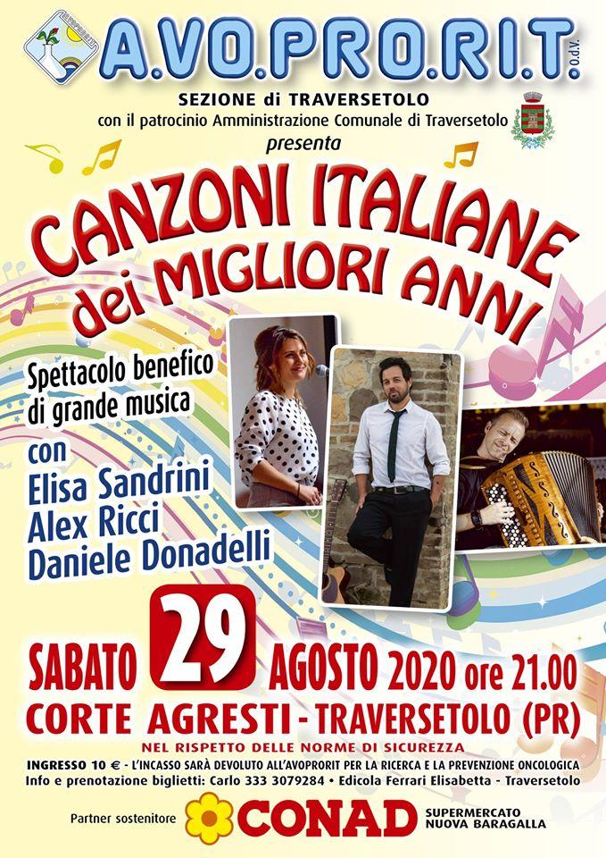 """Concerto """"Canzoni italiane dei migliori anni"""" Traversetolo"""