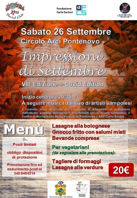 Impressioni di Settembre Arci Pontenovo San Polo 2020