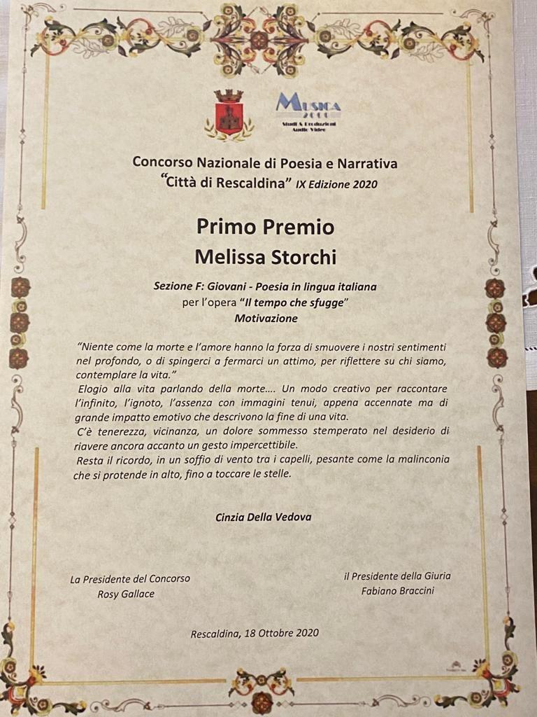 Melissa Storchi IX edizione del concorso Città di Rescaldina