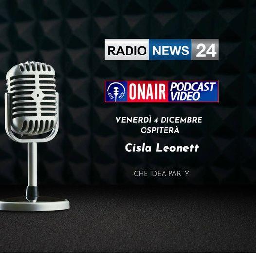 Cisla Leonettai microfoni diRadio News 24