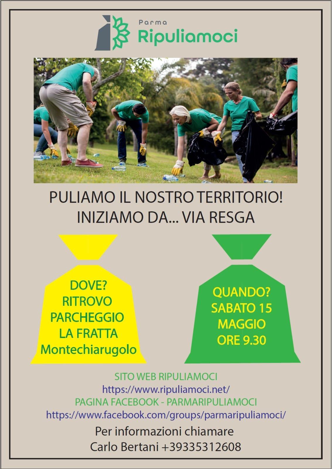 Parma Ripuliamoci nel territorio di Montechiarugolo Maggio 2021