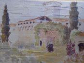 Castello di Montechiarugolo, pittura di Dal Piaz, internato nel 45 proprietà di L.M.