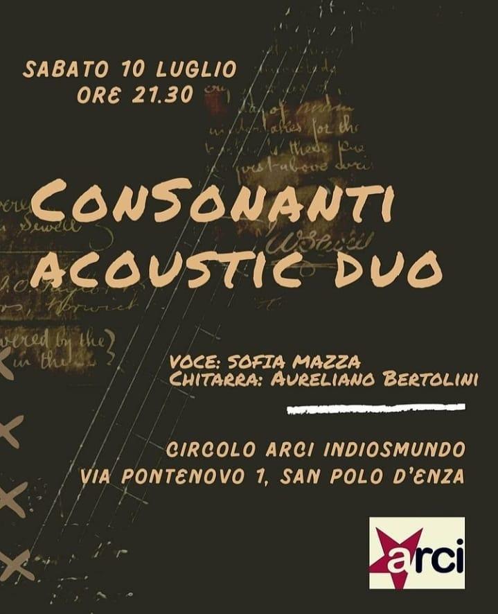 Circolo Culturale Pontenovo @consonanti_acoustic_duo in concerto