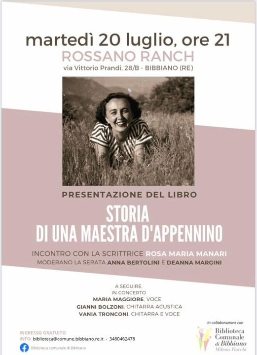 "Rosa Maria Manari ""Storia di una maestra d'appennino"""