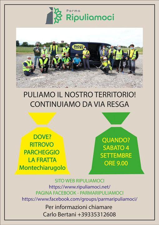 ParmaRipuliamoci uscita in Via Resga a Montechiarugolo, 2021